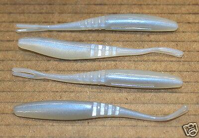 "5/"" Twitch Minnow Super Fluke Style Alewife 50 pack bulk bass plastic worms"