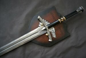 GAME-OF-THRONES-ICE-EDDARD-STARK-039-S-SWORD-BOOK-EDITION-with-FREE-wall-plaque