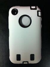 Dual Flex Hard Hybrid Gel Case for iPhone 3G / 3GS - White/Black