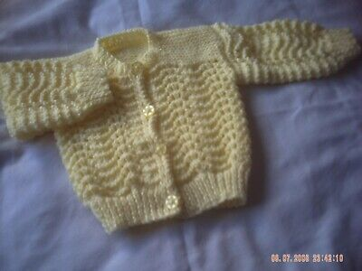 Hand Knitted Bebé Cardigans Talla 3-6 meses.