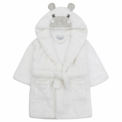 Embroidered  Lamb Personalised Soft Baby Dressing Gown Bath Robe Teddy EARS