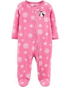CARTER S® Baby Girl 6M Penguin 1-Pc. Fleece Pajama or Sleeper NWT  e2318b67b
