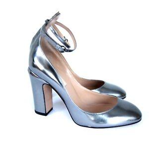 59ccb0ba06e9 Image is loading J-2872102-Valentino-Garavani-Silver-Tango-Pumps-Shoes-