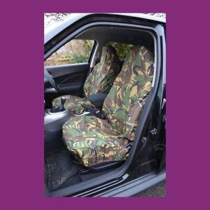 Car Van Front Green Camo Medium Universal Waterproof Airbag Seat Covers