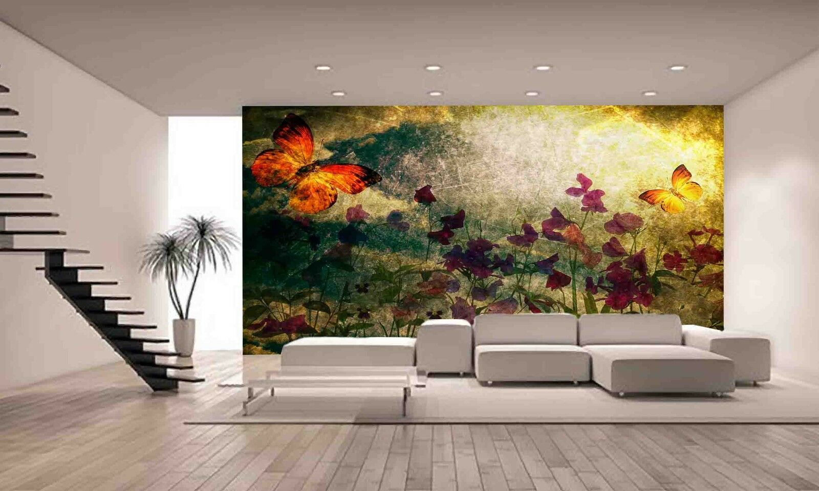 Photo Wallpaper Vintage Flowers GIANT WALL DECOR PAPER POSTER FOR BEDROOM
