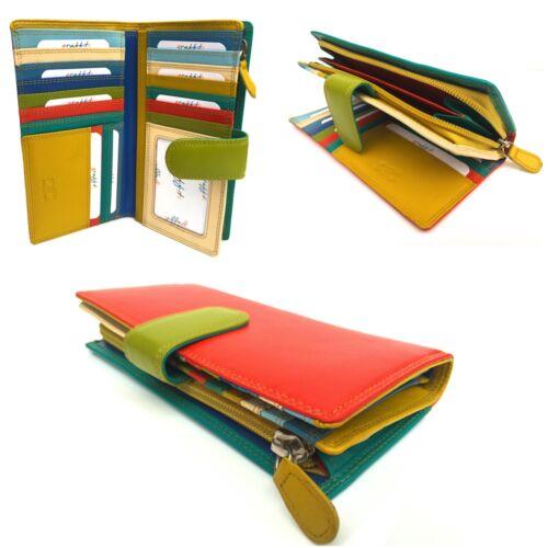 Golunski NEW Leather Large Multi Coloured RFID Purse wallet New Design 7-148