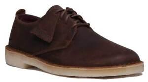 Clarks-Original-Desert-London-Herren-Leder-Brown-Chukka-Schuhe-UK-Groesse-6-12