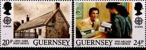 GUERNSEY-CHANNEL-ISLANDS-1990-CEPT-EUROPA-2-Stamps-MNH