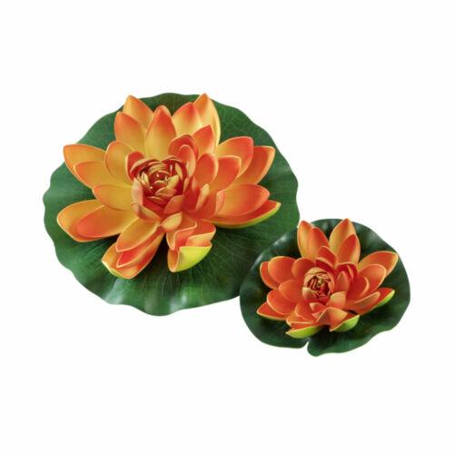 Seerose künstliche Pflanze Schwimmrose Teichpflanze Garten Teichrose Teich Deko