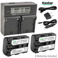 Np-fm50 Battery & Charger For Sony Ccd-trv208 Trv218 Trv228 Trv238 Trv308 Trv318