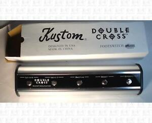 Kustom-Double-Cross-Five-Button-Guitar-Amp-Footswitch-New