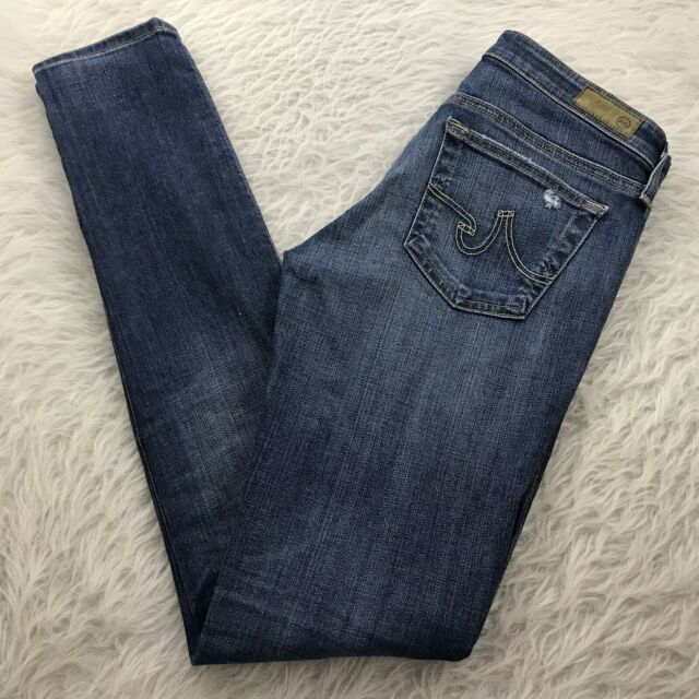AG Adriano Goldschmied The Legging Super Skinny Jeans Women's 27R Distressed