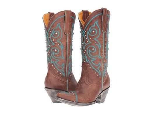 New in box Old Gringo Womens Marsell Stitch Zon Western Boot Orx Turquoise 9.5