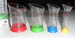 OXO-Wet-Liquid-MINI-MEASURING-BEAKERS-4-pc-Set-Stackable-GOOD-GRIPS-NEW