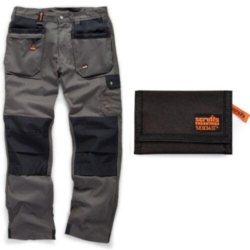 Scruffs WORKER PLUS Work Trousers Graphite Grey /& Black Tri-Fold Sports Wallet