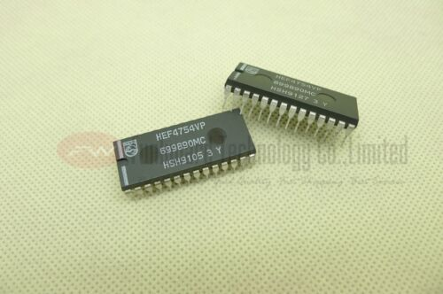 Philips HEF4754VP 18-element bar graph LCD driver PDIP28 X 1PC