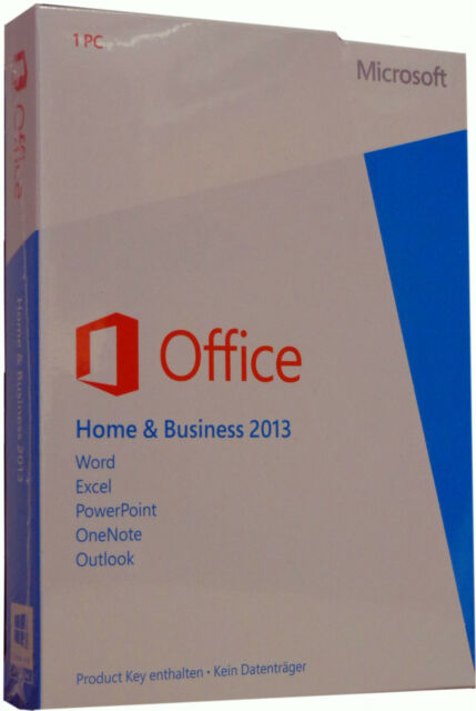 Microsoft OFFICE 2013 Home & Business Dauerhafte Vollversion 32/64Bit ML/Deutsch