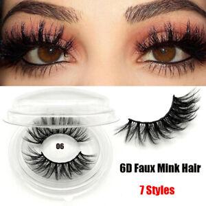 5f0331bbd50 7 Styles 3D Faux Mink Hair False Eyelashes Cross Wispy Lashes ...
