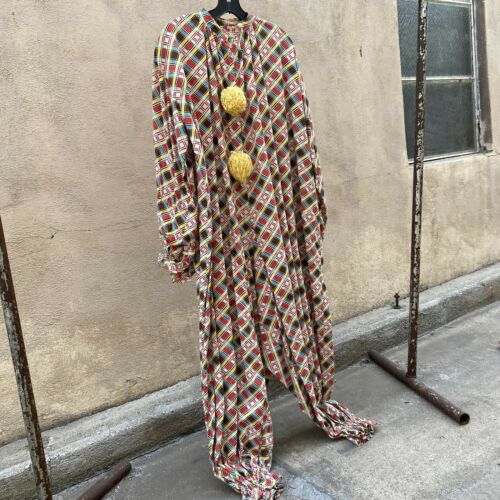 Antique 1920s 1930s Colorful Deco Plaid Clown Cost