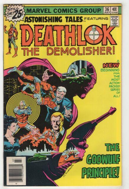 Astonishing Tales #36 (Jul 1976 Marvel) [Deathlok] Rich Buckler Keith Pollard mX