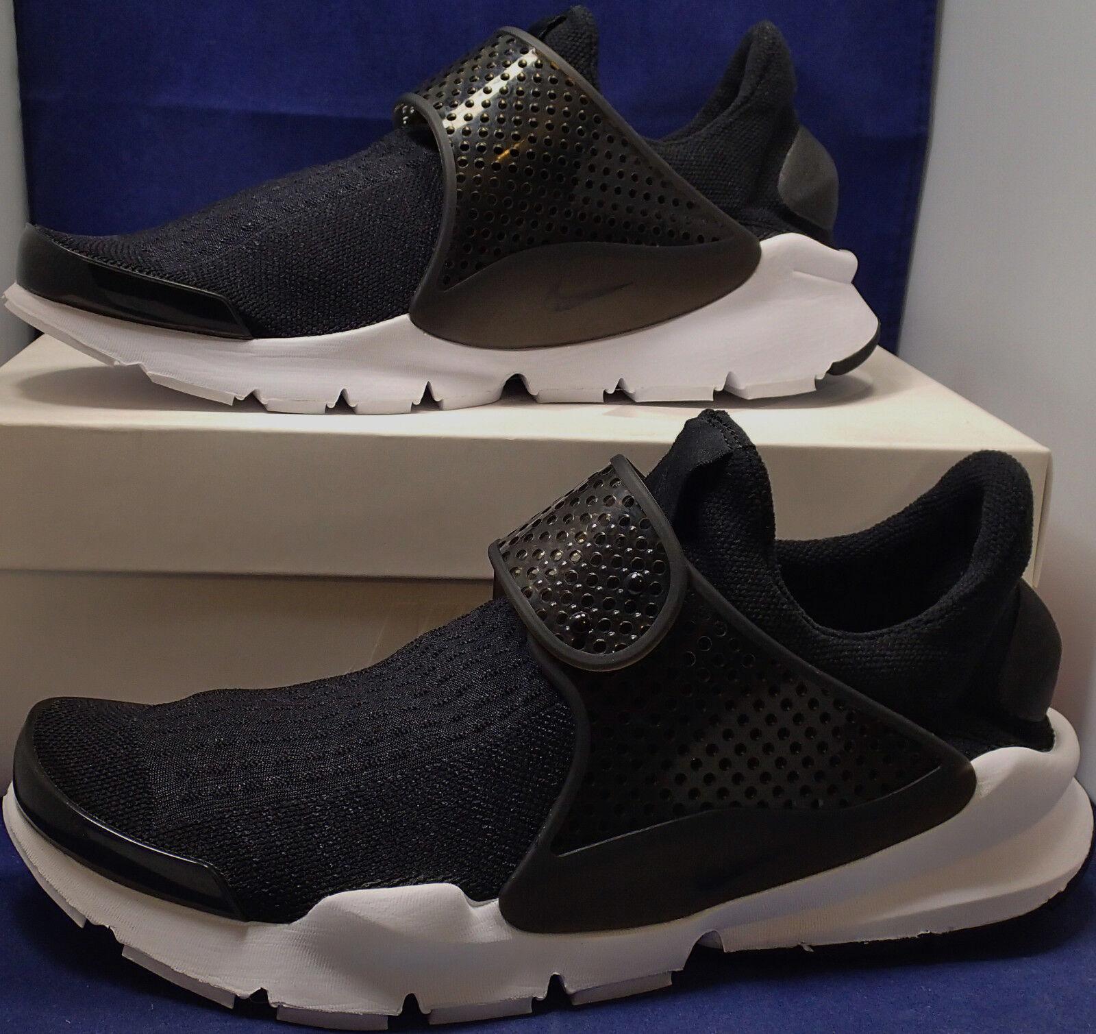 Nike sock dardo id bianco nero sz 10 (880957-991)