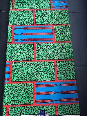Ankara Colourful African Wax Print Fabric for Cotton Sold Per Yard