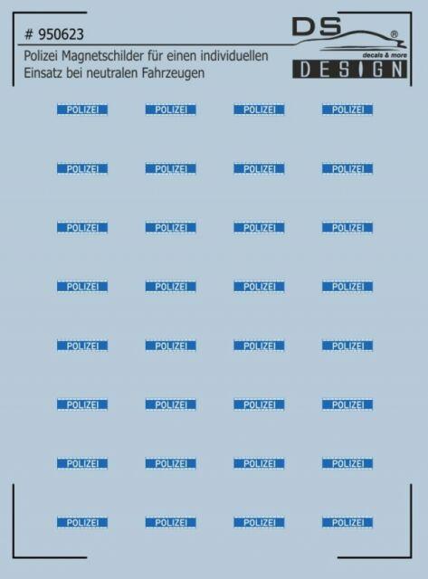 Polizei Magnetschilder für zivile Einsatzfahrzeuge - Decal 1:87 HO - NEU in OVP