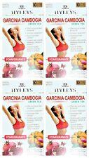4 PACK OF Hyleys 100% Natural Slim Green Tea Garcinia Cambogia and Pomegranate
