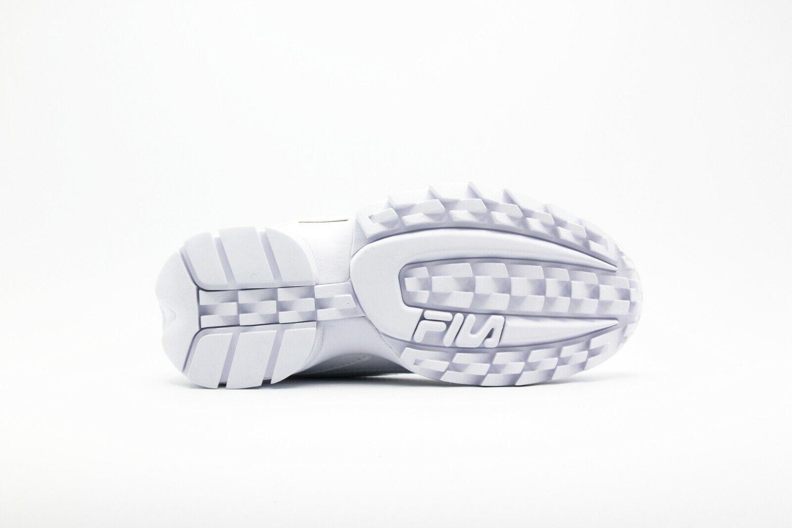 Nuevo Para Para Para mujeres Clásico fila Disruptor 2 Premium patente blancoo Cross Training zapatillas c59515