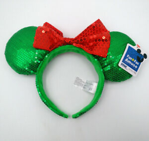 Disney Parks Light Purple Bow Sequins Minnie Ears New Edition Cos Headband