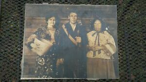 Antique-Large-Tintype-10-X-8-Mountain-Man-With-Women