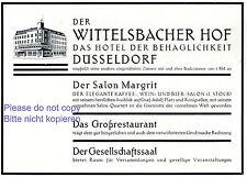 Hotel Wittelsbacher Hof Düsseldorf 1929 Reklame Salon Margit Werbung +