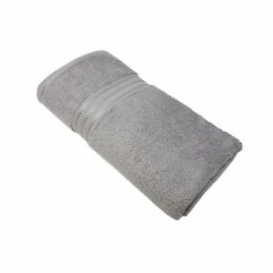 Bath Towels 2 X HOTEL QUALITY SILVER GREY 100% COTTON 600 GSM HAND TOWELS 50 X 80CM