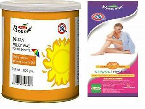 Bee-One-Natural-De-Tan-Milky-Wax-80-Strips-All-Skin-Type-Remove-Retarding-Hair