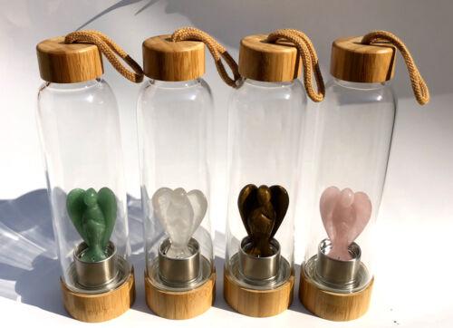 Wholesale Natural Clear Quartz Lovely Angel Elixir Infused Crystal Water Bottle