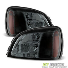 Smoke Headlamps For 2000-2005 Cadillac Deville Headlights Replacement Left+Right