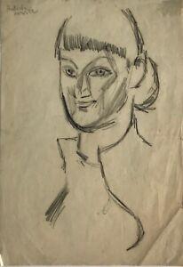Alexander-Rutsch-Drawing-Original-Charcoal-Portrait-2-1952