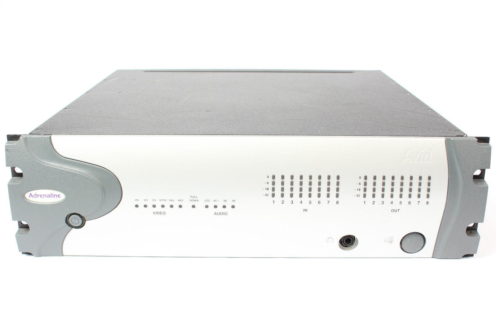 Avid Adrenaline HD Breakout Box w  DNxcel Expansion 0020-03332-02 Rev A