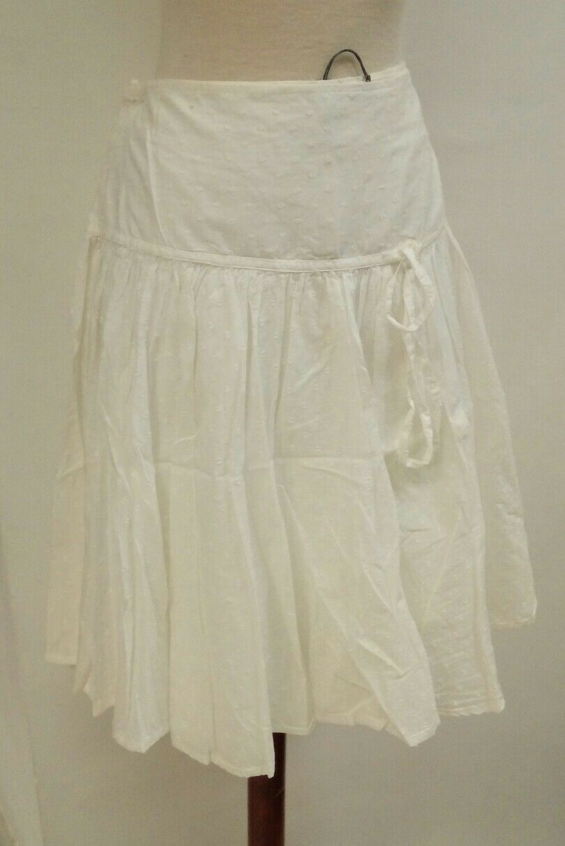 SKIRT woman Size grande 48 cotton MDM white adlib NEW summer ref. 2.1.12