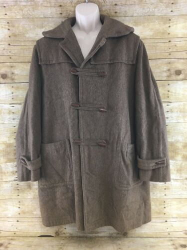 Germany Button Coat Wool Vtg Loden 48r Alpen Hunting Xl Trench Brown Toggle West xwx6PfZ8
