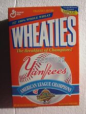 1996 New York Yankees American League Champions WS Wheaties Cereal Box Unopened