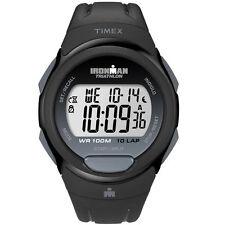 Timex T5K608, Men's 10-Lap Ironman Black Resin Watch, Alarm, Indiglo, T5K6089J