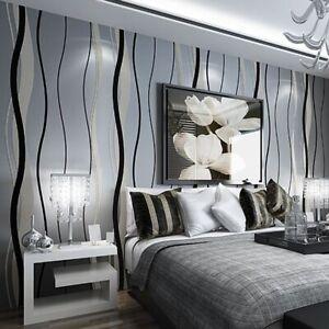 3d Wallpaper Modern Luxury Stripe Non Woven Wall Papers For Living Room Tv Sofa Ebay