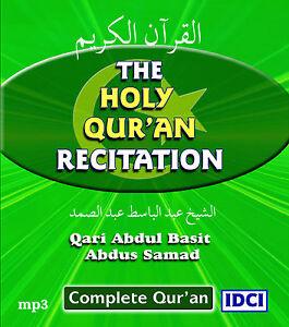 Details about Complete Quran Recitation by Qari Abdul Basit (Mujawwad) mp3  CD (QCD1)