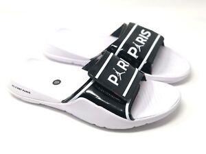 Mens-Nike-Air-Jordan-Hydro-7-V2-PSG-Paris-Slides-Sz-8-12-CJ7244-001-White-Black