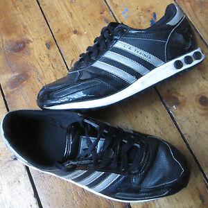 Adidas L.A. LA Trainers Black and Silver UK 5.5 5 1 2 Women s Boys ... 9f593e7657