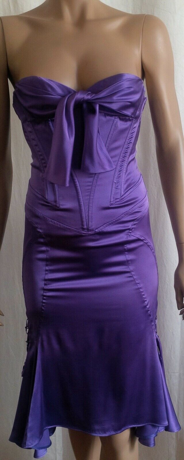 Roberto Cavalli Iconic dress bustier corset mermaid siren silk purple purple