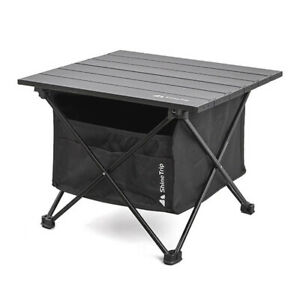 Multifunctional Folding Camping Table with Storage Bag For BBQ Picnic L Black