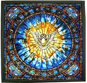 Ebay Stained Glass Panels.Details About Christian The Holy Spirit Large 10 5 Square Stained Glass Panel Suncatcher