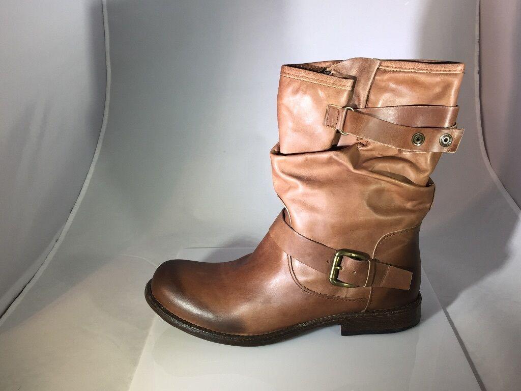 New Women's Eric Michael Laguna Leather Boot in Tan in Size 41